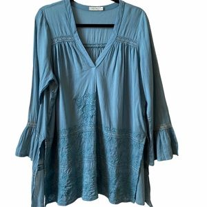 Kyla Sea embroidered bohemian floral tunic